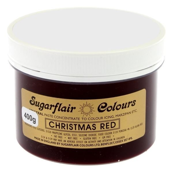 Christmas Red Paste Colour 400g